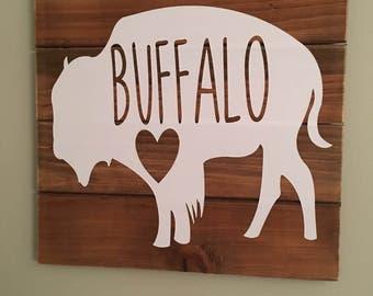 Buffalove- Buffalo, NY Pallet Sign