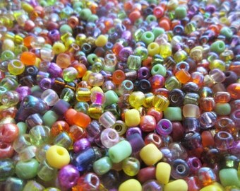 50g 6/0 Seed Bead Mix/Seed Beads, Warm Mix - SKU 6 011 (only pay postage on the first item in an order)