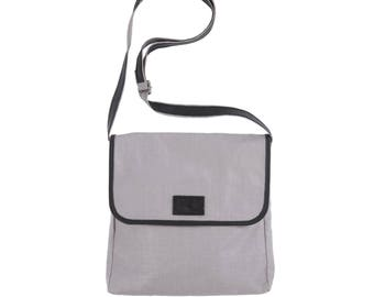 Lin colour grey satchel bag