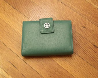 Turquoise Leather GB Billfold Wallet *Flat Rate Shipping* [Cute Retro Vintage Small Wallet Accessories Coin Purse Money]