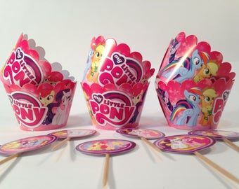 My Little Pony cupcake holders. Cupcake holders for children's party or birthday. Set for children's birthday or party.My Little Pony party.