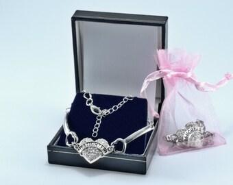 Daughter Crystal Bangle Bracelet
