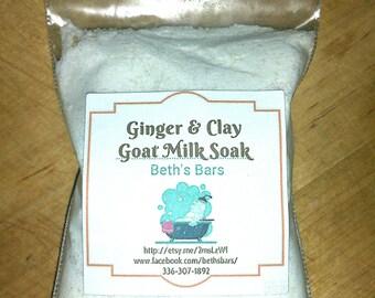 3oz Ginger Clay Bath Soak, Ginger Bath Soak, Ginger Clay Bath Powder, Ginger Bath Powder, Bath Soak, Bath Powder, Goat Milk Bath Soak, Gift