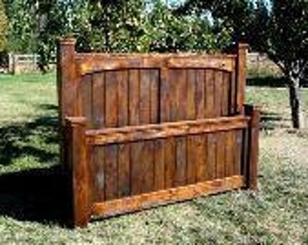 Rustic King Size Bed, Rustic Furniture, Bedroom Furniture, Rustic Headboard