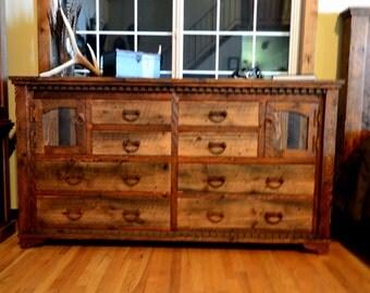 Country Roads dresser, rustic dresser, barnwood dresser
