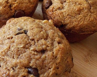 Chocolate Chip Muffins - 6 Pack - Fresh Baked Healthy All Natural Muffins