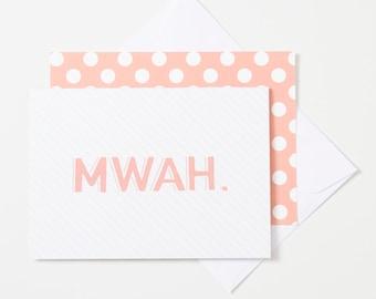 Greeting Card - Mwah