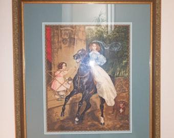 Rider K. Briullov needlepoint picture