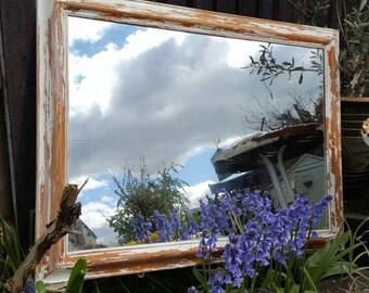 Pine distressed mirror