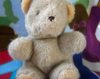 Vintage Mattel Emotions Brown Stuffed Plush Teddy Bear 1984