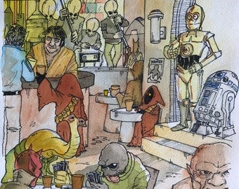 Watercolor: Cantina