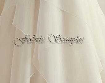 Fabric Samples for V-neck Short Wedding Dress. Ivory Knee Length Wedding Dress.