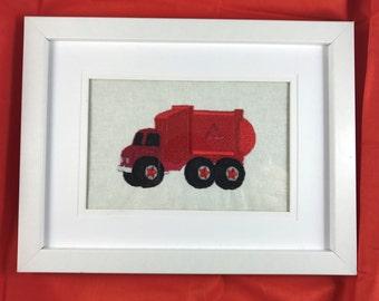 Recycling Truck, Childrens room wall art, Nursery decor