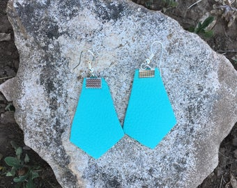 The Grace Leather Earring