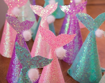 Mermaid Party Hats- set of 5