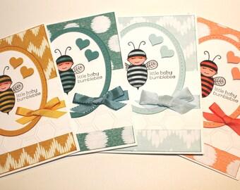 Little Baby Bumblebee Handmade Baby Card