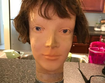Vintage Cosmetology Hair and Make-up Mannequin Head