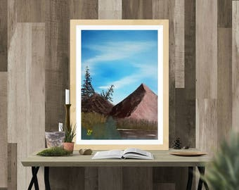 Mountain Lake (Print)