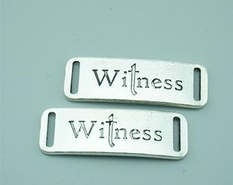 10pcs 13x38mm Antique Silver Witness Charm Pendant Connectors,Letters Charm Pendants Connectors Z1418