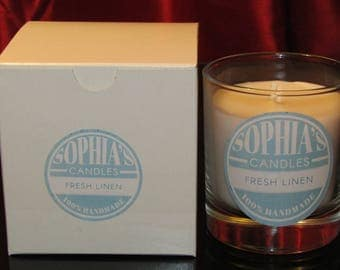 Medium Fresh Linen Scented Candle