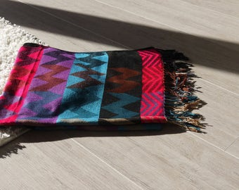 Colorful Tribal Pattern Throw