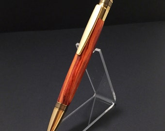 Chrome & 24kt Gold Cortona Twist Pen