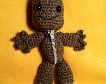Sackboy // amigurumi // gift for gamers // video games / Little Big Planet // toy // crochet