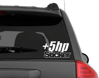 Car +5HP Decal - +5HP Sticker  - Laptop Decal - Laptop Stickers - Laptop Sticker - Vinyl Decal Vinyl Sticker, Car Decal