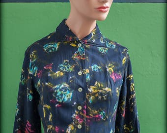 Psychedelic T36 (en) XS sleeves women shirt three quarter length