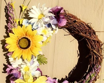 12' grapevine spring wreath