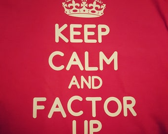 Keep Calm and Factor Up- Hemophilia Onesie- Hemophilia Shirt- Hemophilia Awareness- Hemo Hero- Hemo Life