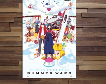 Summer Wars Anime Poster - Canvas