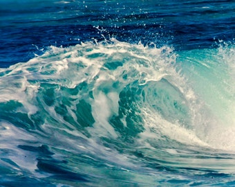 Crashing wave, beach, Hawaii