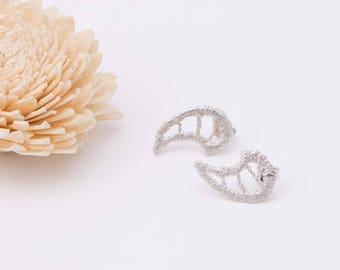 """Wings"" Silver earrings. Angel Wings earrings. Romantic Angel Wings earrings. Original earrings."