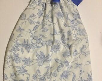 Blue and White Pillowcase Dress
