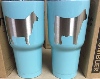 Show Steer Tumbler,Show Heifer,Show Pig,Show Lamb,Show Mom,Livestock,Powder Coated,Custom,Gift,Personalized,RTIC,YETI,Cup,Drink,Birthday