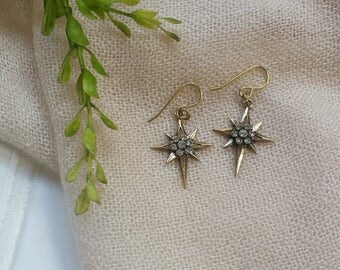 Luna-BluPineappleCo-Dainty Earrings-Simple Earrings-Starburst Earring-Boho Jewelry-Boho Earrings-Gifts for Her