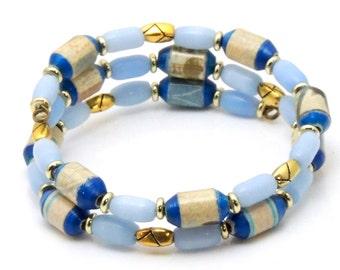 Regal Dream (Upcycled Paper Bead Bracelet/SB0038)