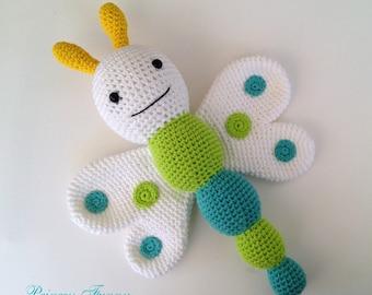 Toys, Crochet butterfly, crochet amigurumi butterfly, crochet stuffed butterfly, handmade toys, gift for boys, gift for girls,shower gift,