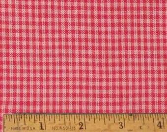 "Pink 2 Homespun Cotton Fabric (Full Yard 36"" x 44"")"