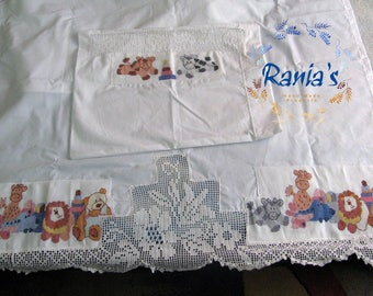 Bed linen and pillowcase