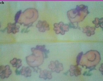 1 x Metre, CHICKEN, 1.5 inch, 38mm, Organza. Ribbon, Craft, Sewing