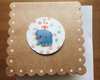 mini pop-up animal cards (blank) - Set of 3 assorted handmade cards
