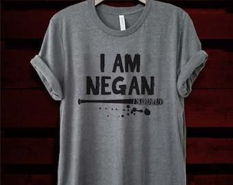 I Am Negan Crewneck Unisex T-Shirt, Men's and Women's Unisex Tee, Dead Fan Shirt, Zombie Tyson Fan Shirt, Horror Tee