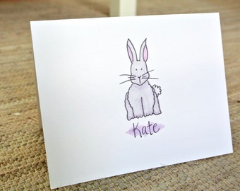 Personalized Bunny Stationery - Set of 25
