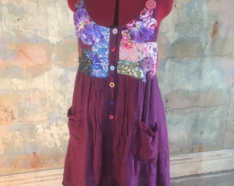 upcycled linen dress