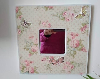 Precise mirror hand made floral