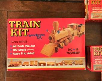 Vintage WoodKrafters complete train set