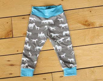 Yoga Waistband Leggings - Horse