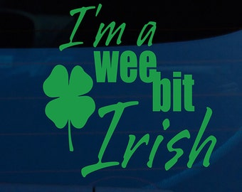 Wee Bit Irish Auto Decal